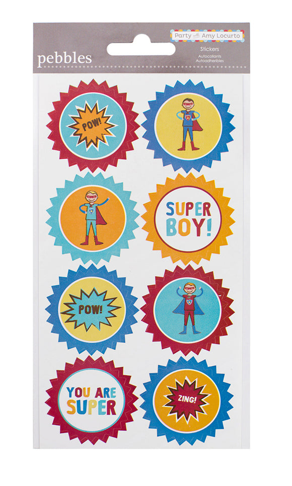Pebbles Cardstock Stickers - Hero - Circle Accents