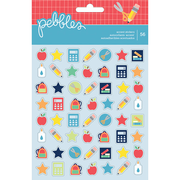 Pebbles Cardstock Stickers - Back to School - Mini Accents
