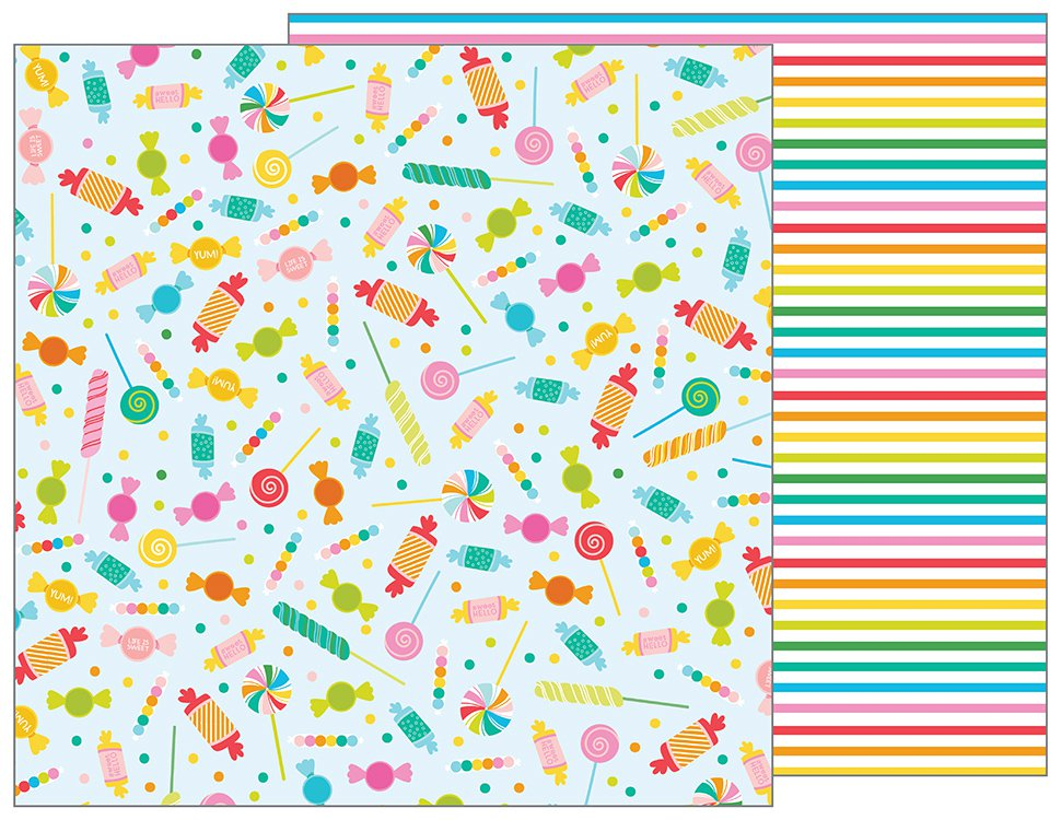 Pebbles Papers - Happy Hooray - Candy Shoppe - 2 Sheets