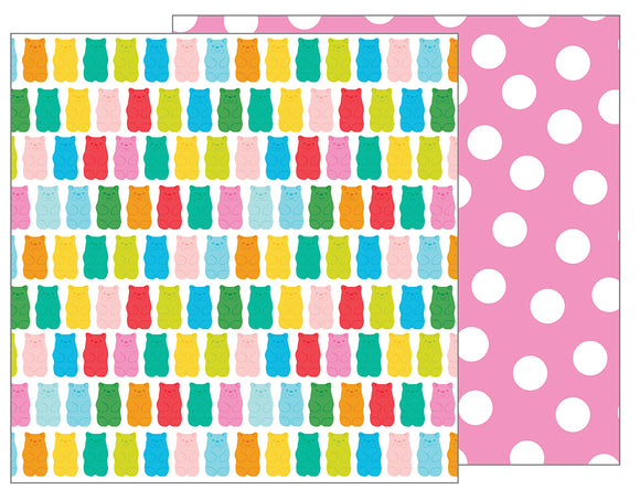 Pebbles Papers - Happy Hooray - Beary Sweet - 2 Sheets