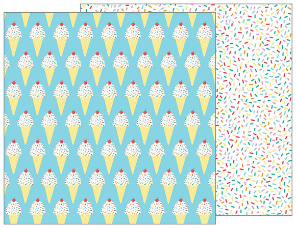 Pebbles Papers - Happy Hooray - Sprinkles on Top - 2 Sheets