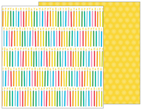 Pebbles Papers - Happy Hooray - Make a Wish - 2 Sheets
