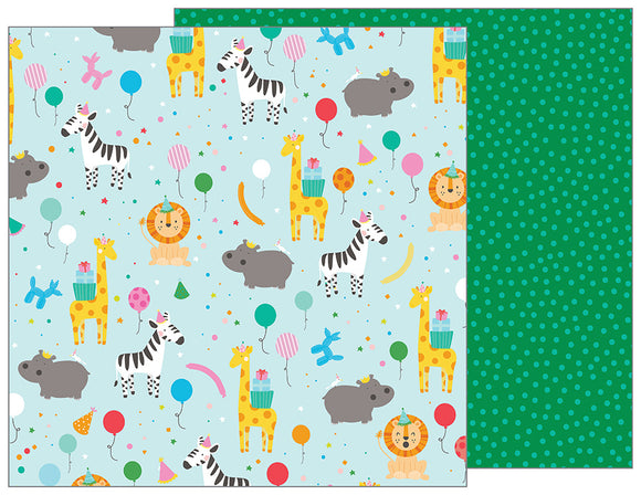 Pebbles Papers - Happy Hooray - Party Animal - 2 Sheets