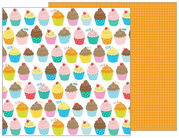 Pebbles Papers - Happy Hooray - Eat Cake - 2 Sheets