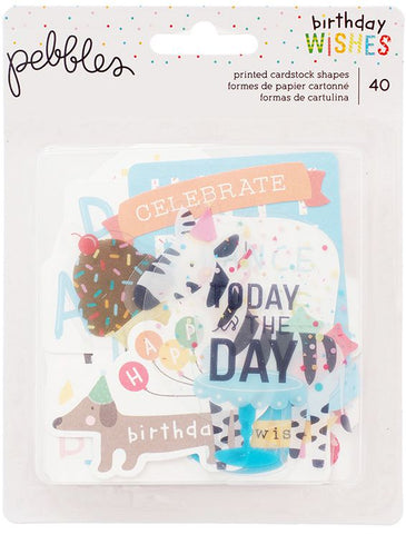 Pebbles Ephemera - Birthday Wishes