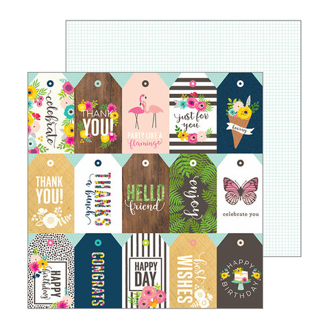 Pebbles Cut-Outs - Jen Hadfield - Patio Party - Just for You Tags