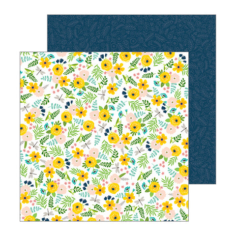 Pebbles Papers - Jen Hadfield - Patio Party - Backyard Blooms - 2 Sheets