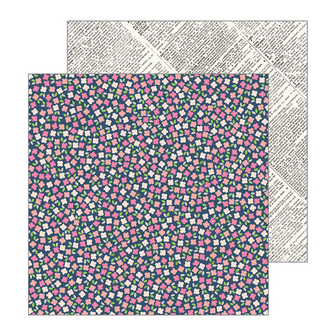 Pebbles Papers - Jen Hadfield - Patio Party - Scattered Posies - 2 Sheets