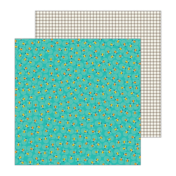 Pebbles Papers - Jen Hadfield - Patio Party - Glow - 2 Sheets