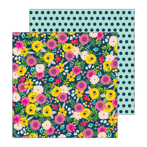 Pebbles Papers - Jen Hadfield - Patio Party - Bouquets - 2 Sheets
