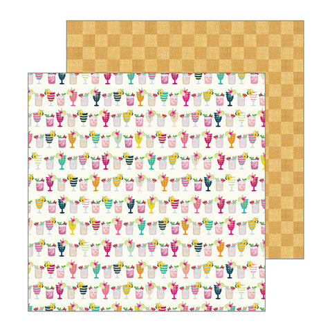 Pebbles Papers - Jen Hadfield - Patio Party - Mocktails - 2 Sheets