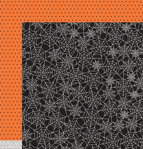 Pebbles Papers - Boo - Spiderwebs - 2 Sheets