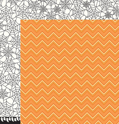 Pebbles Papers - Boo - Candy Corn - 2 Sheets