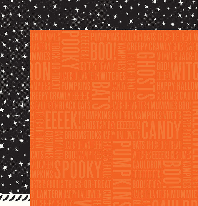 Pebbles Papers - Boo - Spooky - 2 Sheets