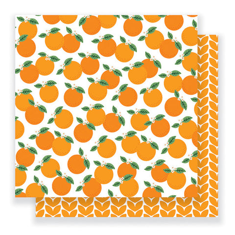 Pebbles Papers - Jen Hadfield - Everyday - Mandarins - 2 Sheets