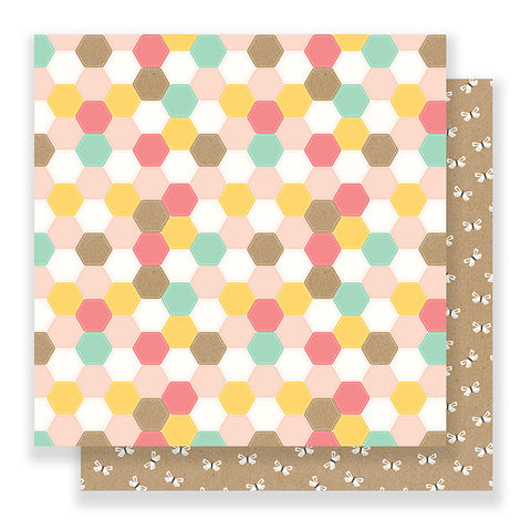 Pebbles Papers - Spring Fling - Patchwork - 2 Sheets