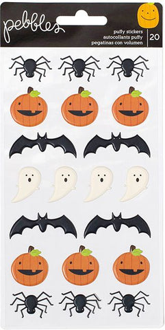 Pebbles Puffy Stickers - Trick or Treat