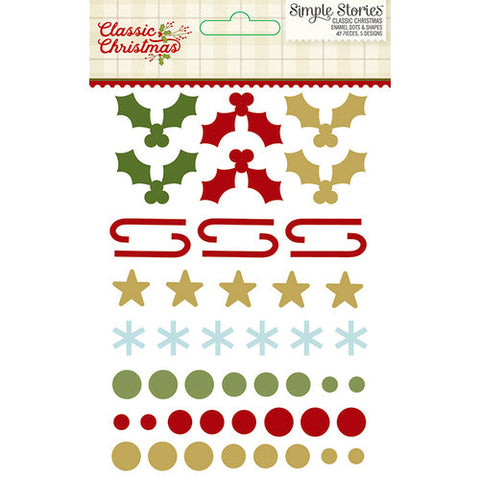 Simple Stories Enamel Dots - Classic Christmas