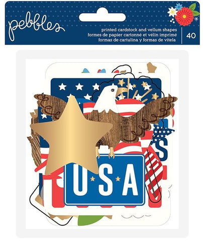 Pebbles Ephemera - America the Beautiful