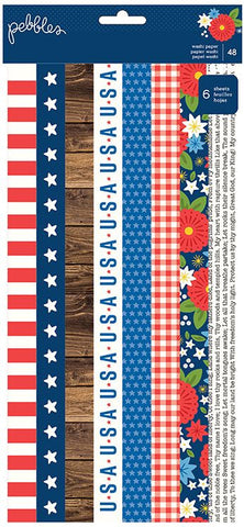Pebbles Washi Stickers - America the Beautiful