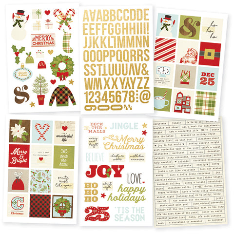 Simple Stories Sticker Pack - Classic Christmas