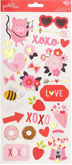 Pebbles Cardstock Stickers - My Funny Valentine