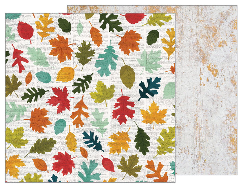 Pebbles Papers - Warm & Cozy - Fallen Leaves - 2 Sheets