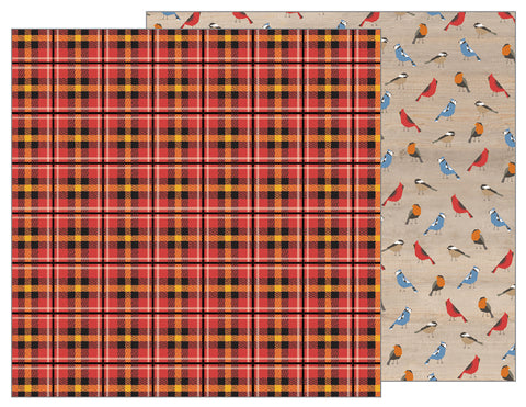 Pebbles Papers - Warm & Cozy - Tartan - 2 Sheets