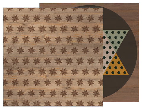 Pebbles Papers - Warm & Cozy - Star Mosaic - 2 Sheets