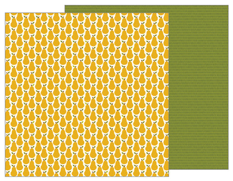 Pebbles Papers - Woodland Forest - Pears - 2 Sheets