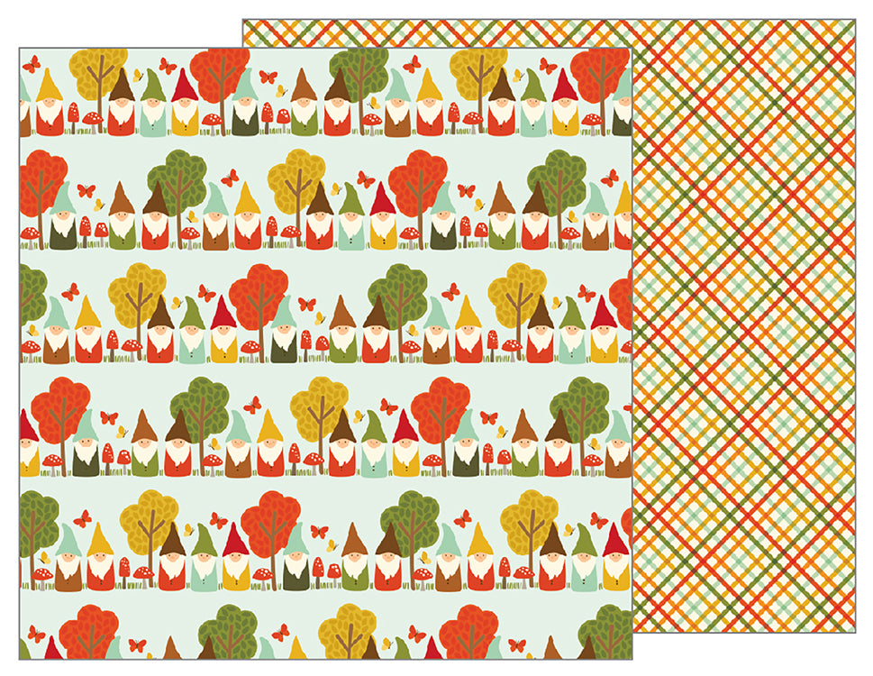 Pebbles Papers - Woodland Forest - Gnome Home - 2 Sheets