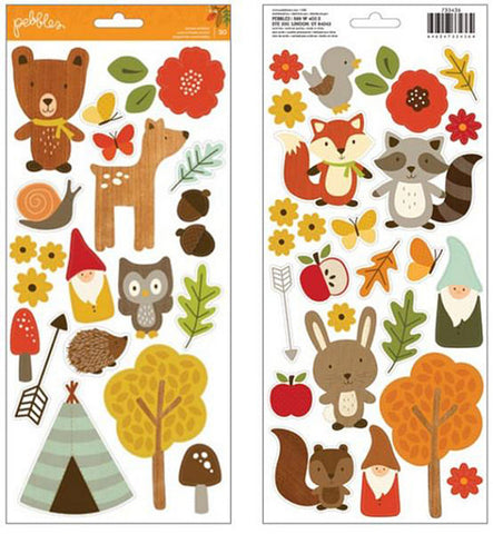Pebbles Cardstock Stickers - Woodland Forest
