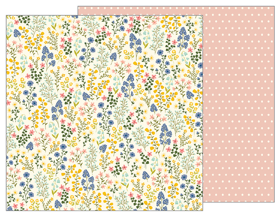 Pebbles Papers - Jen Hadfield - Simple Life - Wildflowers - 2 Sheets
