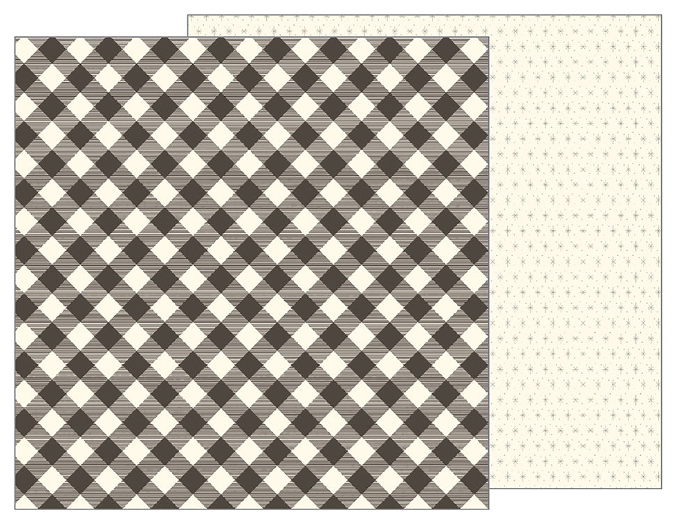 Pebbles Papers - Jen Hadfield - Simple Life - Buffalo Check - 2 Sheets