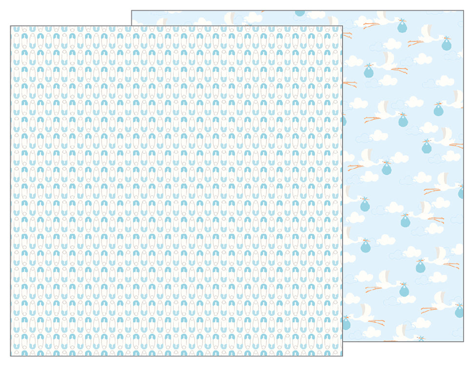 Pebbles Papers - Lullaby - Boy - Delivering Baby Boy - 2 Sheets