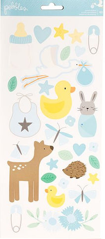 Pebbles Cardstock Stickers - Lullaby - Boy