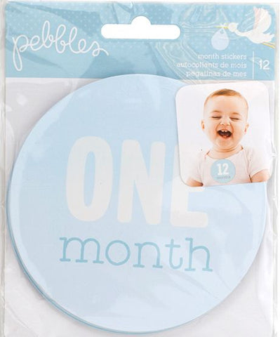 Pebbles Monthly Stickers - Lullaby - Boy