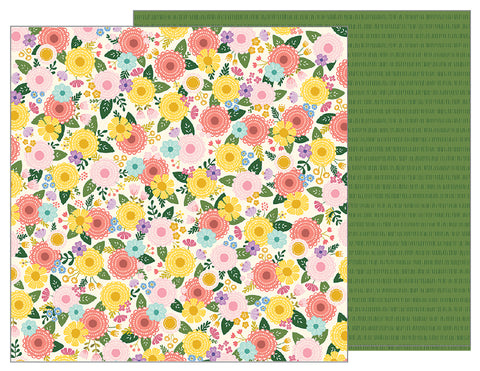 Pebbles Papers - Tealightful - Bouquet - 2 Sheets