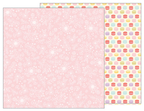 Pebbles Papers - Tealightful - Delicate Lace - 2 Sheets