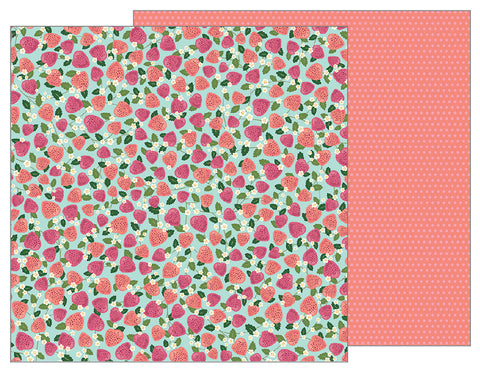 Pebbles Papers - Tealightful - Fresh Picked - 2 Sheets