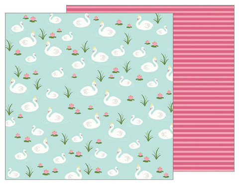Pebbles Papers - Tealightful - Graceful Swans - 2 Sheets