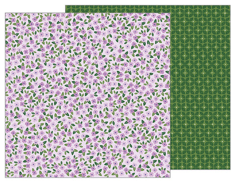 Pebbles Papers - Tealightful - Lovely Lilacs - 2 Sheets