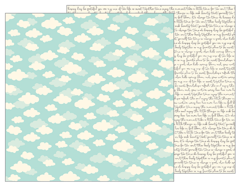Pebbles Papers - Tealightful - Daydreams - 2 Sheets