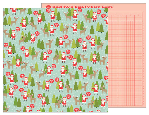 Pebbles Papers - Merry Merry - North Pole - 2 Sheets