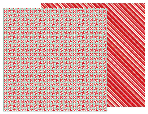 Pebbles Papers - Merry Merry - Peppermints - 2 Sheets