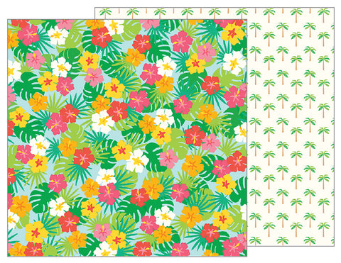 Pebbles Papers - Sunshiny Days - Paradise - 2 Sheets
