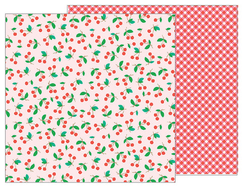 Pebbles Papers - Sunshiny Days - Sweet Cherries - 2 Sheets