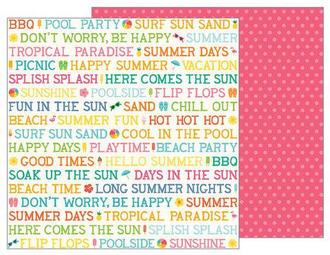 Pebbles Papers - Sunshiny Days - Summer Day - 2 Sheets