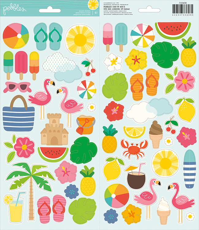 Pebbles Cardstock Stickers - Sunshiny Days