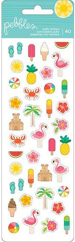 Pebbles Puffy Stickers - Sunshiny Days